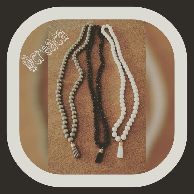 #DIY #Necklace. Like en volg @CreacaDIY Sieraden op facebook voor meer ideeën.