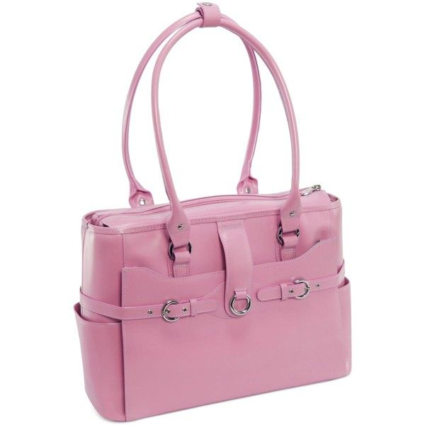McKlein Willow Springs Leather Laptop Briefcase ($160) ❤ liked on Polyvore featuring accessories, tech accessories, pink, laptop sleeve cases, pink laptop cases, leather laptop briefcase, computer briefcase and leather computer briefcase