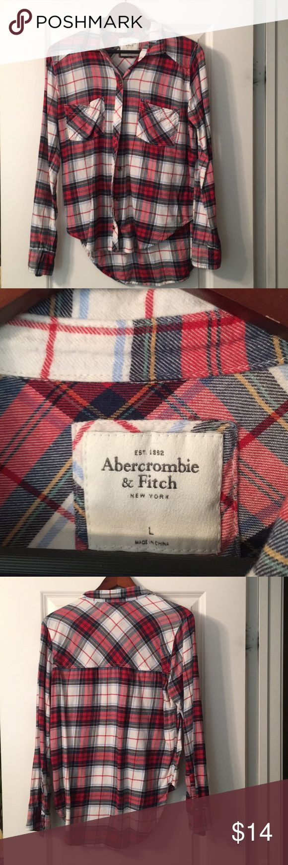Abercrombie and Fitch flannel Abercrombie and Fitch button down flannel Abercrombie & Fitch Tops