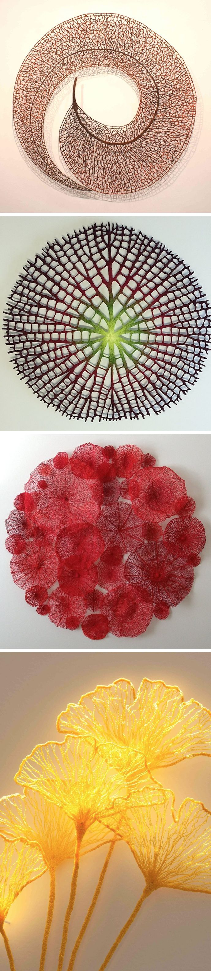 Delicately Embroidered Sculptures by Meredith Woolnough #embroidery
