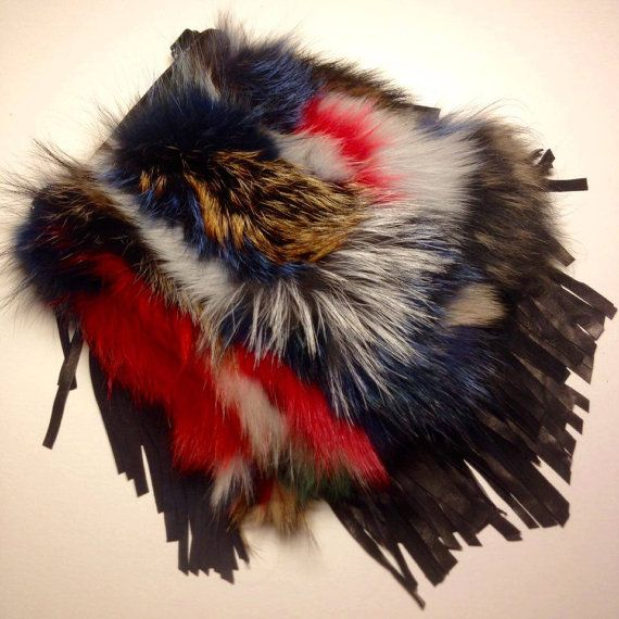 High Quality Real Fox Fur Crossbody Multicolor Bag by TrixiCookies