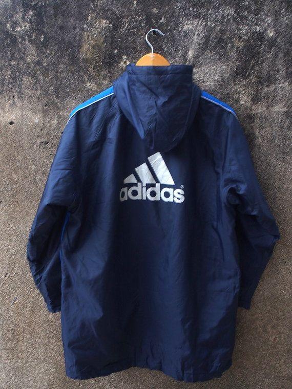 a12053203695 Vintage ADIDAS Windbreaker Medium Adidas Jacket Adidas Big Logo Sportswear  Trainer Windbreaker Hoodie Jacket Parka Size M