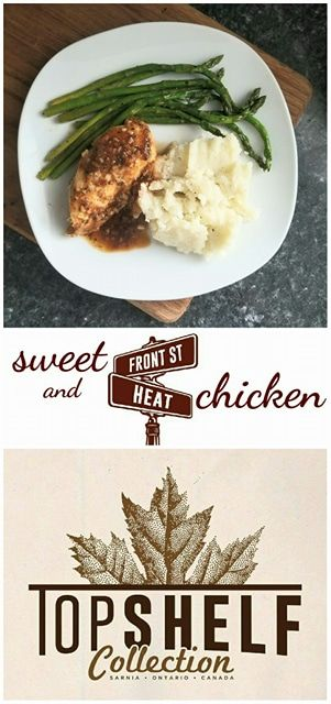 """Sweet and Front Street Heat chicken is possibly the most flavourable dish ever created. This chicken dish is prepared with Top Shelf Collection's """"Front Street Heat"""", an Ontario made hot sauce."""