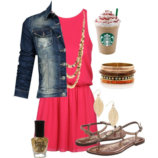 Summer, Come Sooner!, created by chelseawate on Polyvore all but the Starbucks