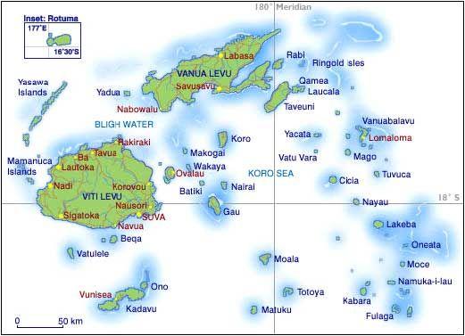 Dive Map of Fiji