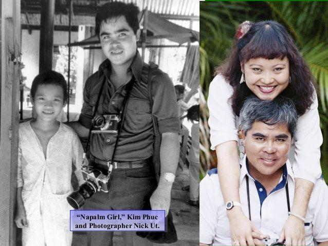 """Napalm Girl"" Kim Phue with Photographer Nick Ut."