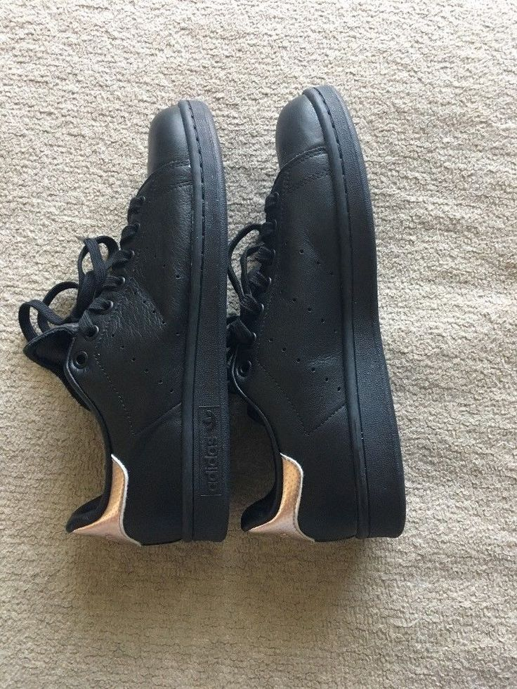 NWOB adidas Core Black W Rose Gold STAN SMITH Classic Trainers Women's Size 9 | Clothing, Shoes & Accessories, Women's Shoes, Athletic | eBay!