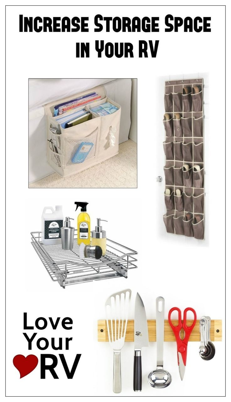 Ingenious ideas to Increase storage space in your RV from the Love Your RV! blog - http://www.loveyourrv.com/ #RV #storage