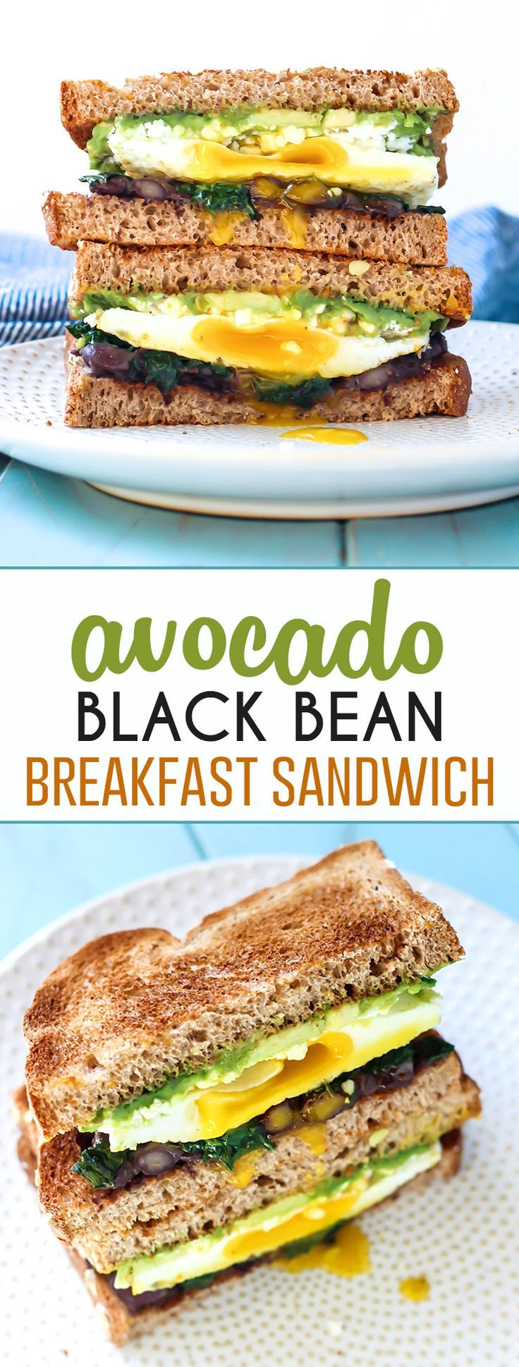 This Avocado Black Bean Breakfast Sandwich will be your new favorite. The perfect way to start your morning with healthy fats, good carbs and plenty of protein. Use your favorite GF bread or a wrap.