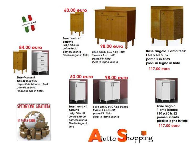 Mobile base per cucina   AtuttoShopping   Pinterest