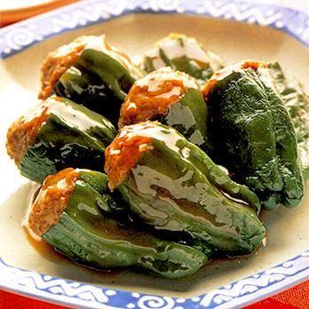 肉詰めピーマンの甘辛煮 | 川村由紀子さんの煮ものの料理レシピ | プロの簡単料理レシピはレタスクラブニュース