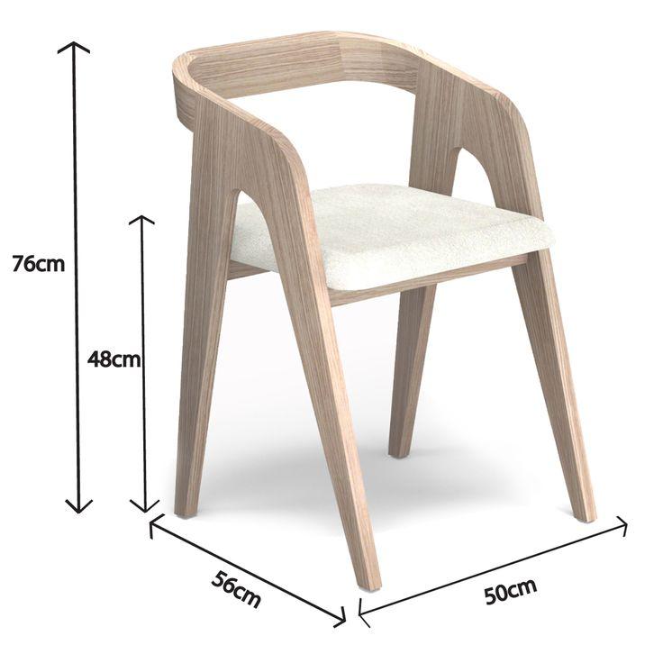 Chaise design en chêne français, esprit scandinave. Meuble de qualité, numéroté et estampillé, production artisanale et sur mesure. 100% français!
