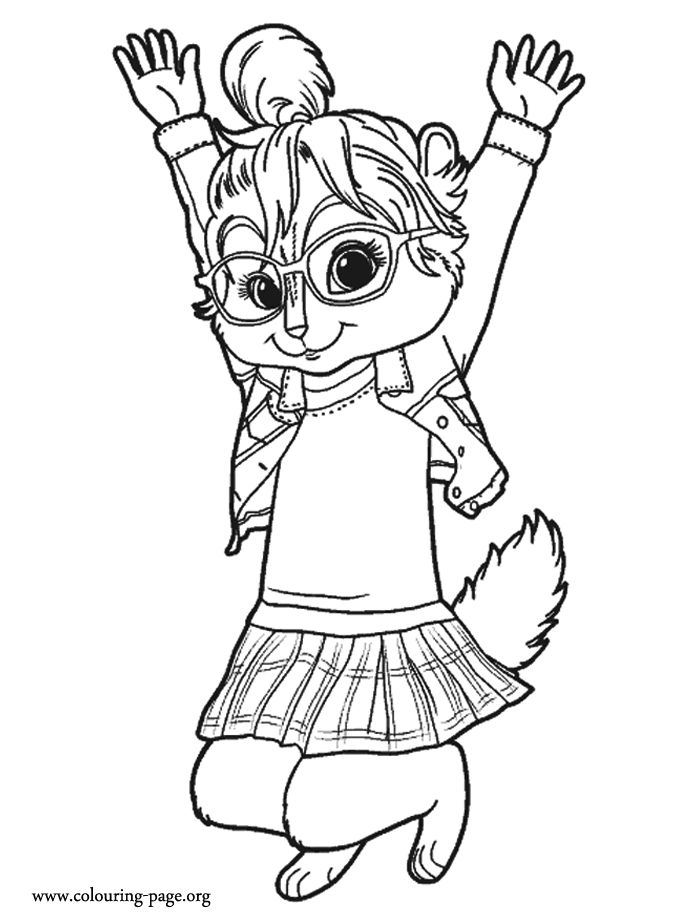 alvin and the chipmunks who are jumping coloring pages for kids printable alvin and the chipmunks coloring pages for kids - Chipmunk Coloring Pages Printable