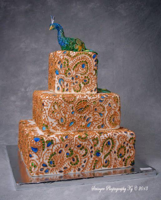Henna Cake | myfoodarama: Peacock and henna cake