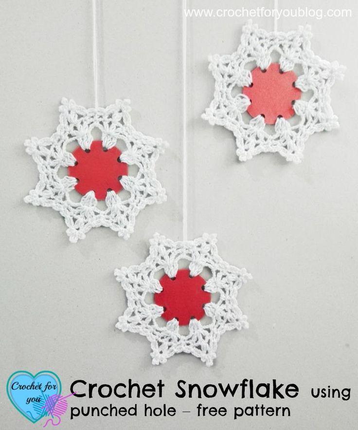 Mejores 56 imágenes de Crochet Snowflakes en Pinterest | Copos de ...