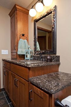 Designed By The Cabinet Store, This Full Basement Remodel Features A  Showplace Bar And Vanity