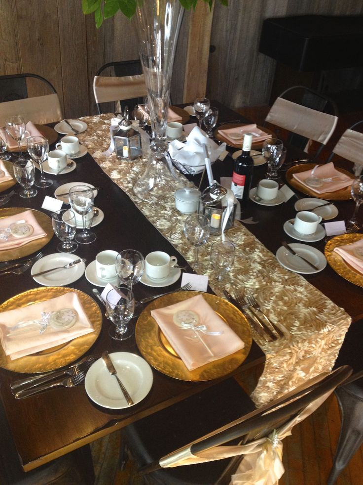 Charger Plates- Elegant Place Setting by Village Vines Florists & Event Design