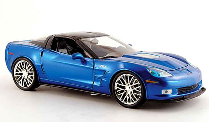 1/18 diecasts corvettes for sale | Chevrolet Corvette ZR1 blue 2009 Jada Toys 1/18