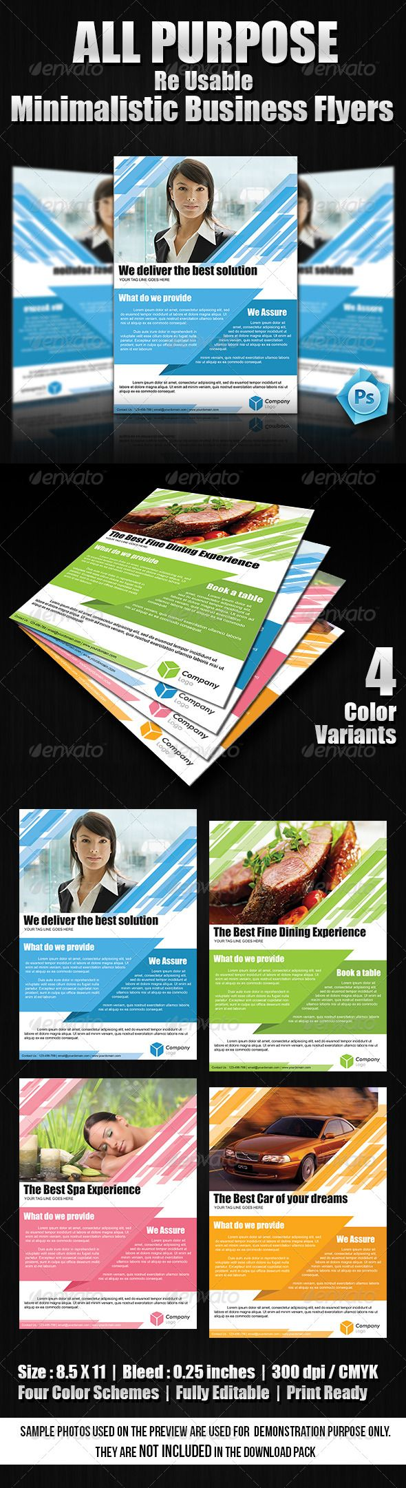 All Purpose Re-Usable Business Flyers