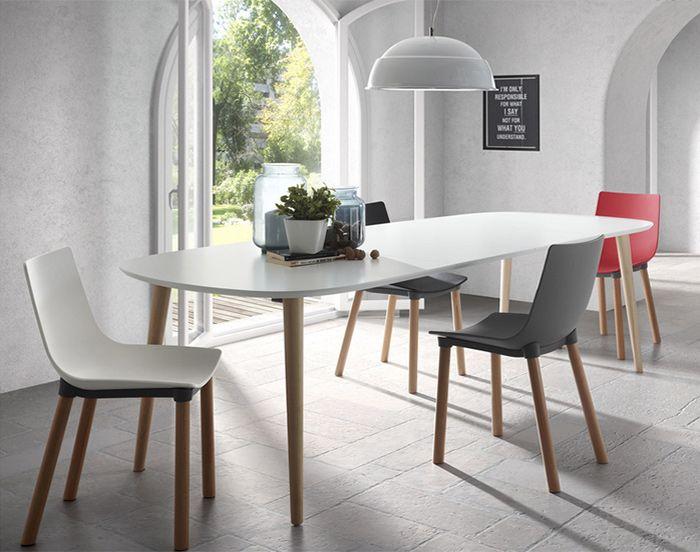 Les Meilleures Images Du Tableau DECO CUISINE Sur Pinterest - Table a manger extensible blanc laque pour idees de deco de cuisine