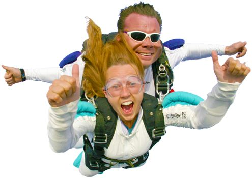 Tandem skydiving at Parachute Montreal
