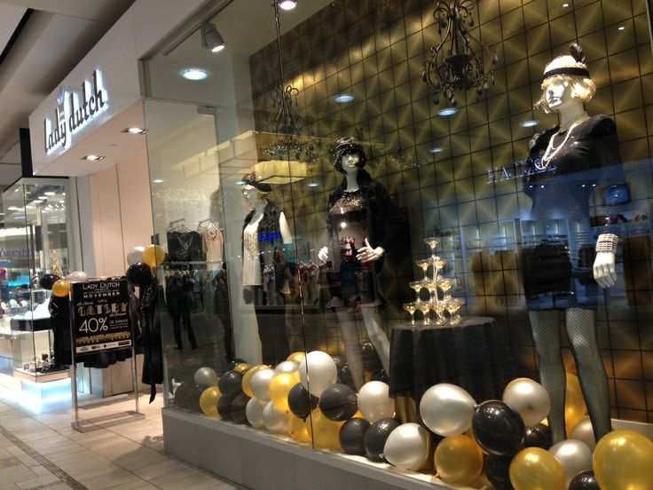 The #Great #Gatsby #Event #gold #silver #black #holiday #window #display #VM #LadyDutch #Fashion #sale #promotion #classy #trendy #chic
