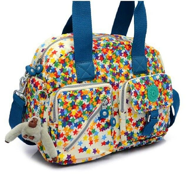 Brand New Authentic Kipling Defea Medium Printed Shoulder Bag Color: Star Away Print Php 3,900