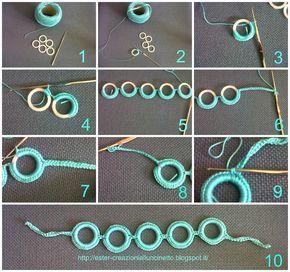 I miei lavori all'uncinetto: Tutorial Come fare un braccialetto all'uncinetto
