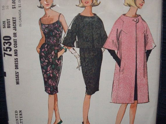 1960s Pauline Trigere Vintage Sewing Pattern by kinseysue, $75.00