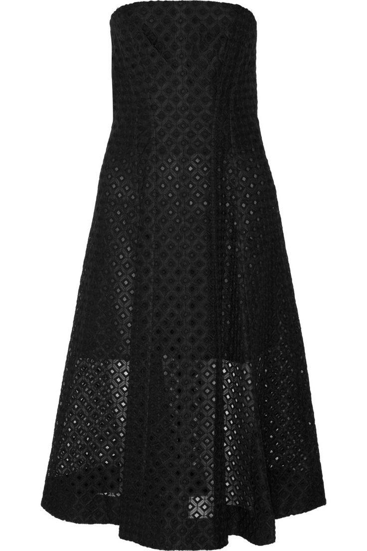 Stella McCartney Strapless embroidered organza dress