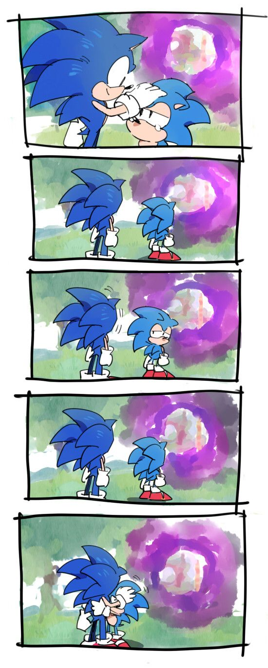 Goodbyes don't seem to be Sonic's strong suit. #SonGokuKakarot