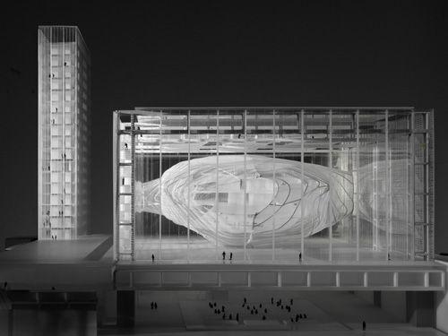 Massimiliano Fuksas, Modello del Palazzo dei Congressi di Roma, 2001, collezione MAXXI Architettura