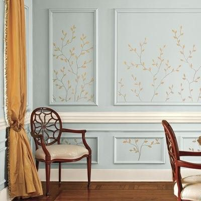 Sweet Molding and print inside Remodelando la Casa: Wall Frame Moldings: Top Ten Reasons for you to Love them