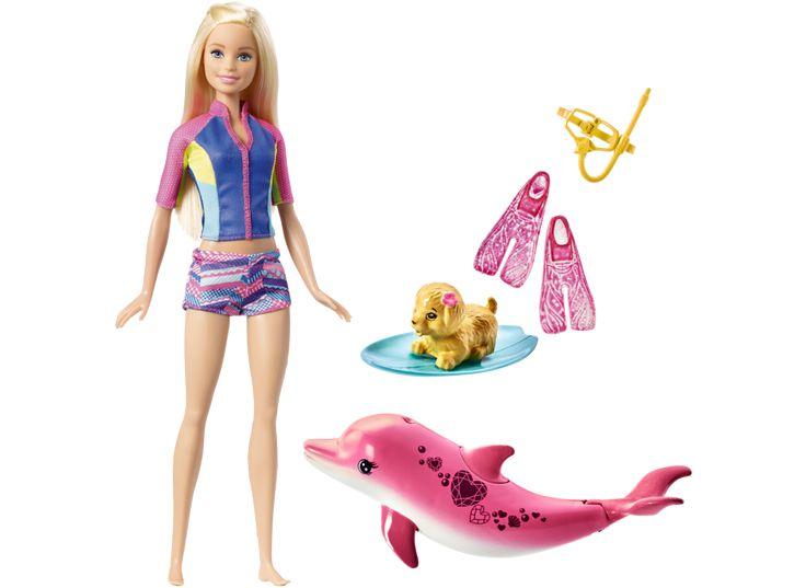 BARBIE Dolphin Magic Snorkel Fun Friends sæt | Barbie | Mærker | Legetøj fra BR
