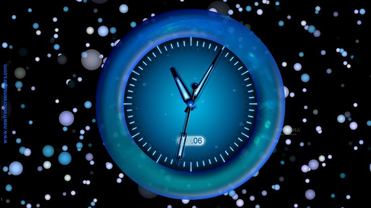 Download Free Radiating Clock screensaver, Radiating Clock