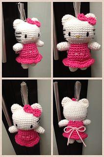 Cute little crochet Hello Kitty.