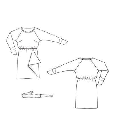 Платье - выкройка № 144 из журнала 10/2010 Burda – выкройки платьев на Burdastyle.ru