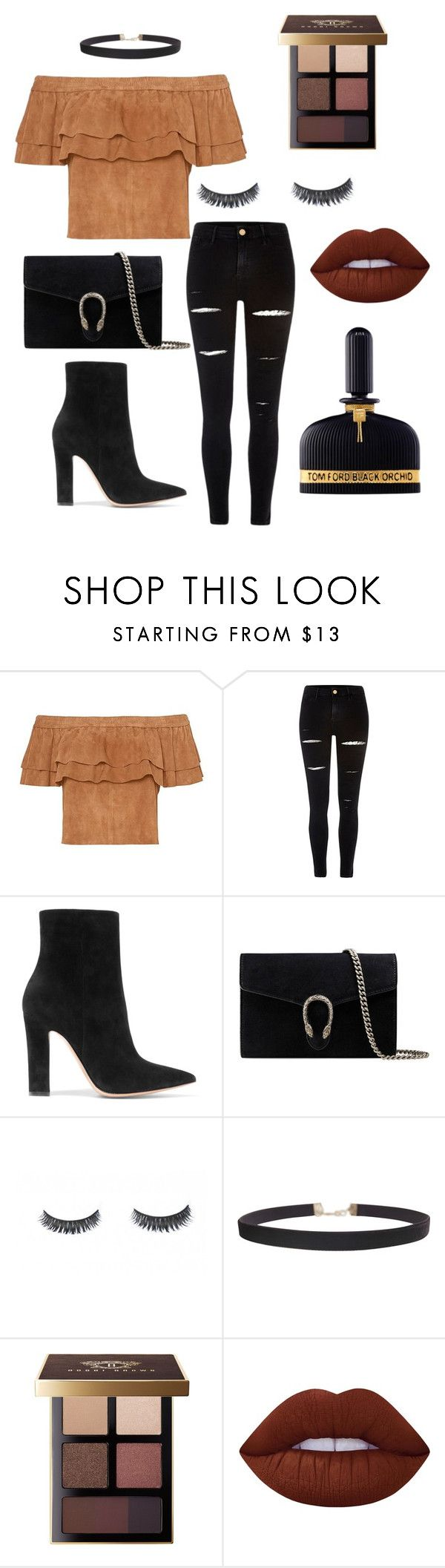 """""""Untitled #34"""" by kylie-cardinali on Polyvore featuring River Island, Gianvito Rossi, Gucci, Humble Chic, Bobbi Brown Cosmetics, Lime Crime and Tom Ford"""