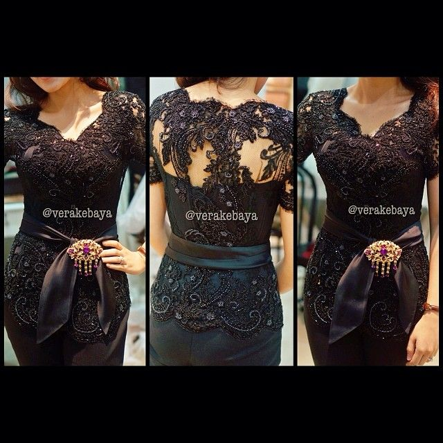 I'm gonna go with this beautiful Kebaya and black pencil skirt!