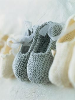 Garter Stitch Silk Slippers