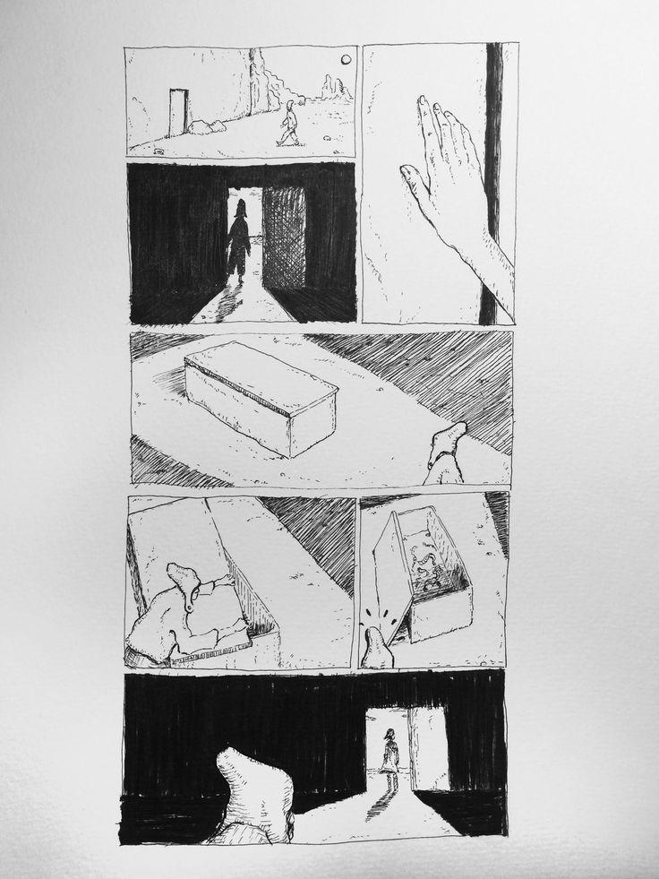 "One panel Comic. ""Noli me tangere"""