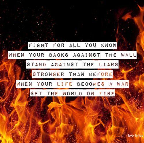 Black Veil Brides Set The World On Fire Lyrics - YouTube