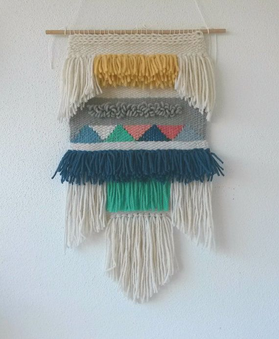 Hand Woven Wall Hanging, Woven Tapestry, Woven Textile Wall Hanging