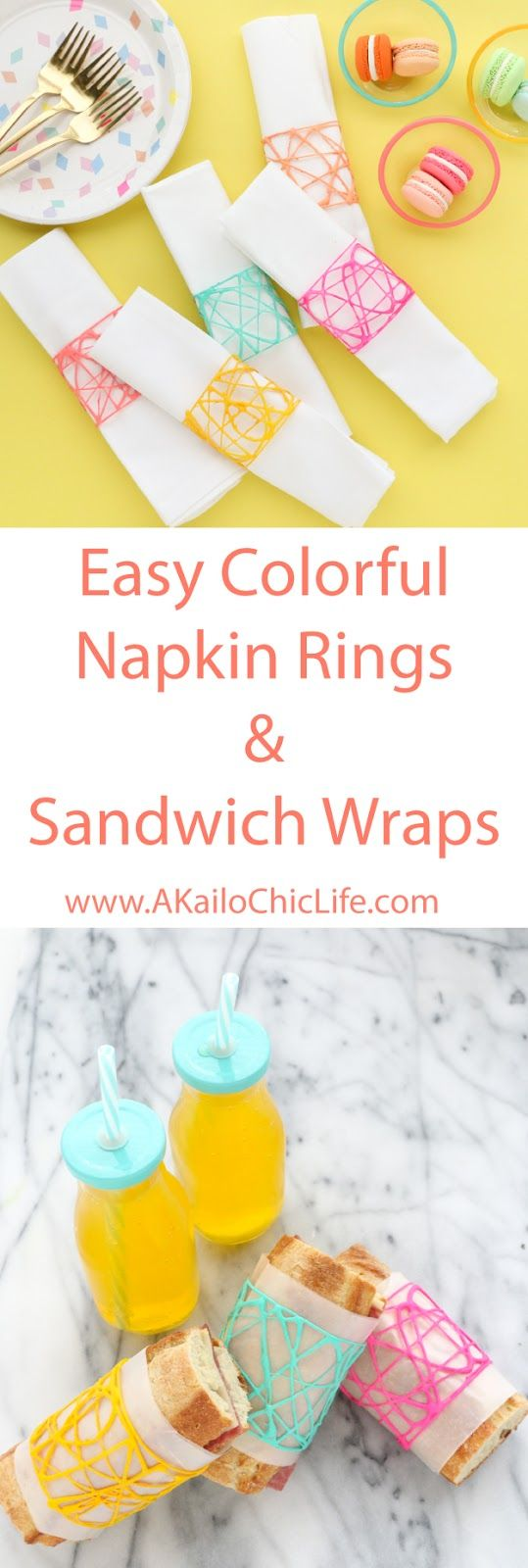 Craft It - Cross Hatch Napkin Rings and Sandwich Wraps