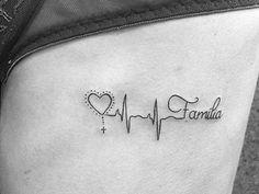 Corazón, Electrocardiograma y Frase: Familia