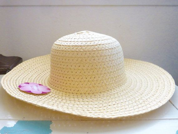 Gardening hat for crafts tan hat paper hat standard size women's hat new with tags craft hat crafting wall hanging hat gardening by SixthandDurianSupply