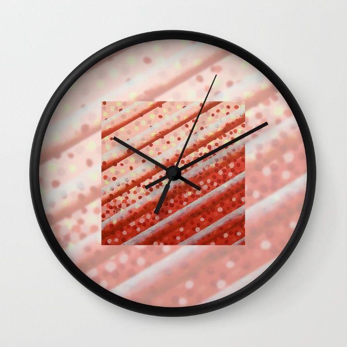 'Diagonal Bars' - Wall Clock. #new #home #homedecor #wallclocks #shareyoursociety6 #s6walclocks #s6 #nagohnala #clocks #art #gallery #stylish #ticktock #plexiglass #clockwork #timepieces #wallart