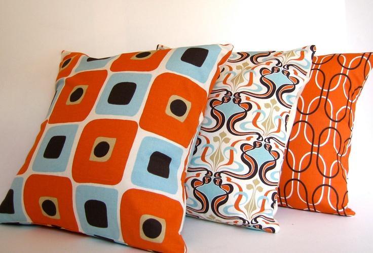 Retro Pattern Pillow Fight Mcm Dining Chairs Geometric
