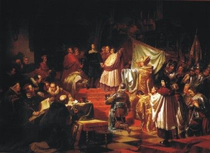 Carl Theodor von Piloty - Gründung der Katholischen Liga durch Herzog Max I. von Bayern (1609)