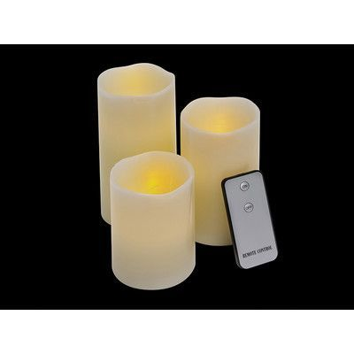 Imperial Home 3 Piece Pillar Candle Set